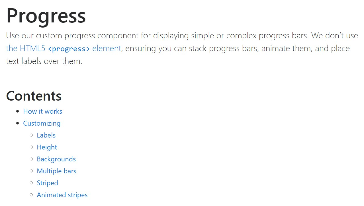 Bootstrap progress bar  authoritative  information