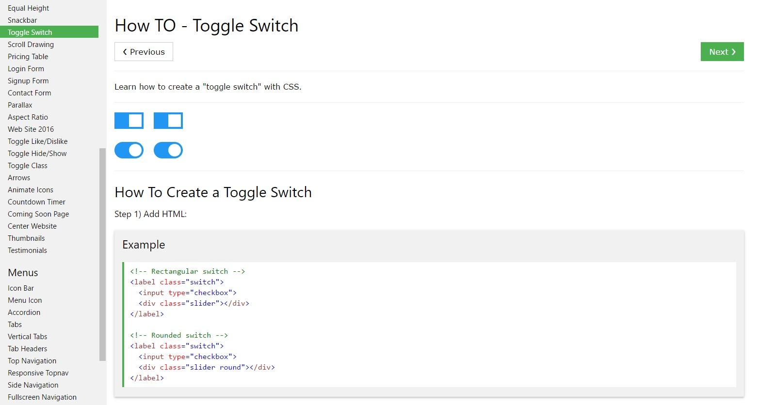 The best way to  produce Toggle Switch