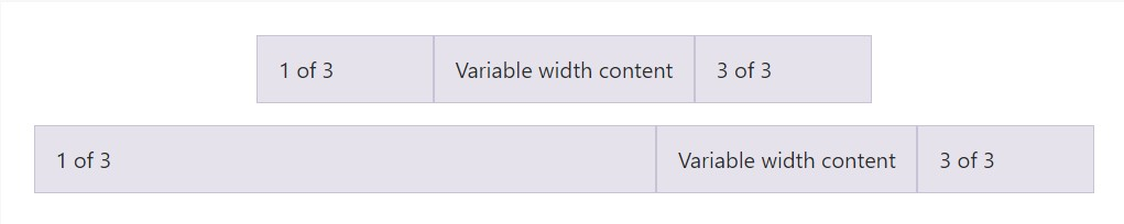 Variable width content