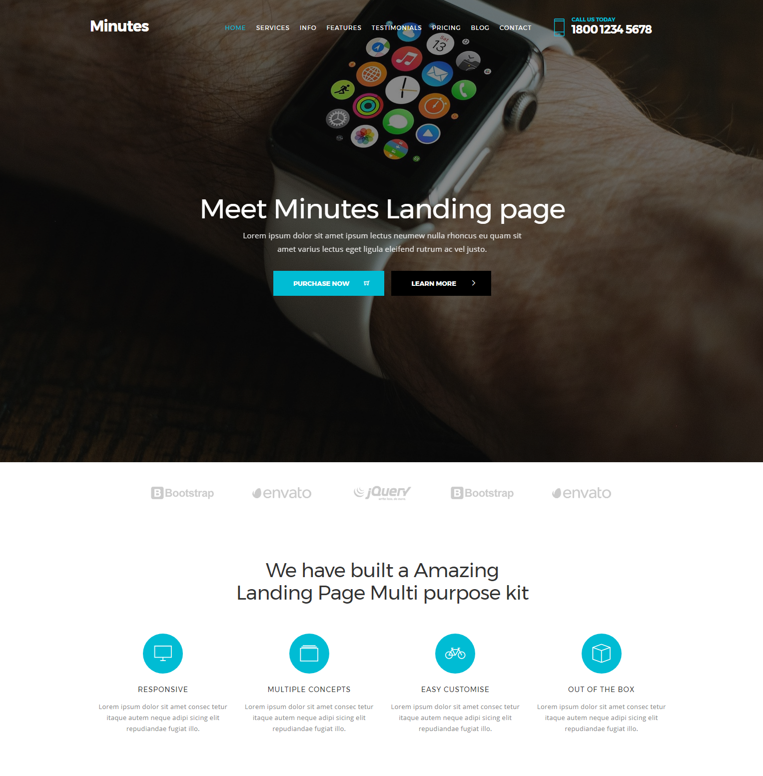 Responsive Bootstrap Minutes Templates