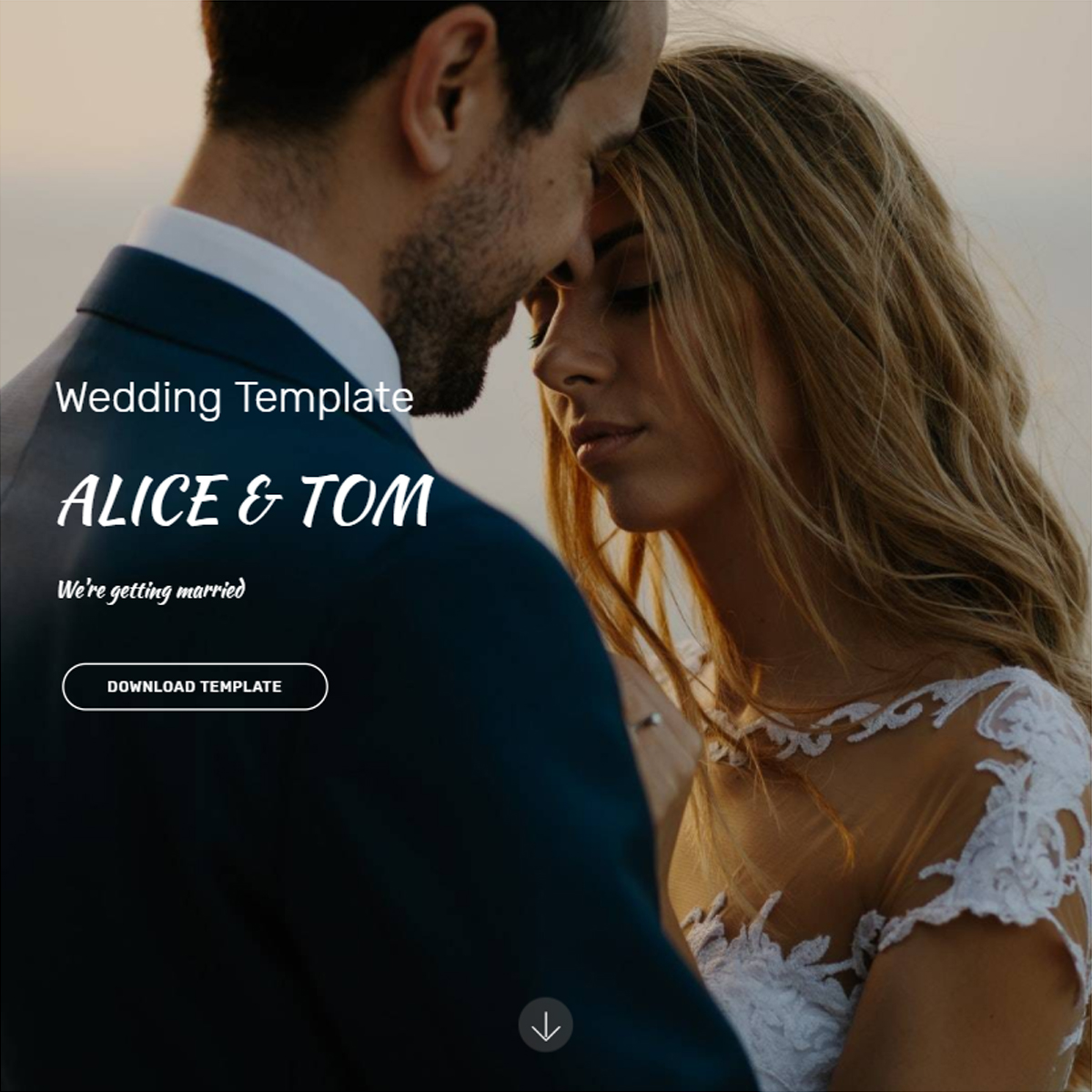 HTML Bootstrap Wedding Templates