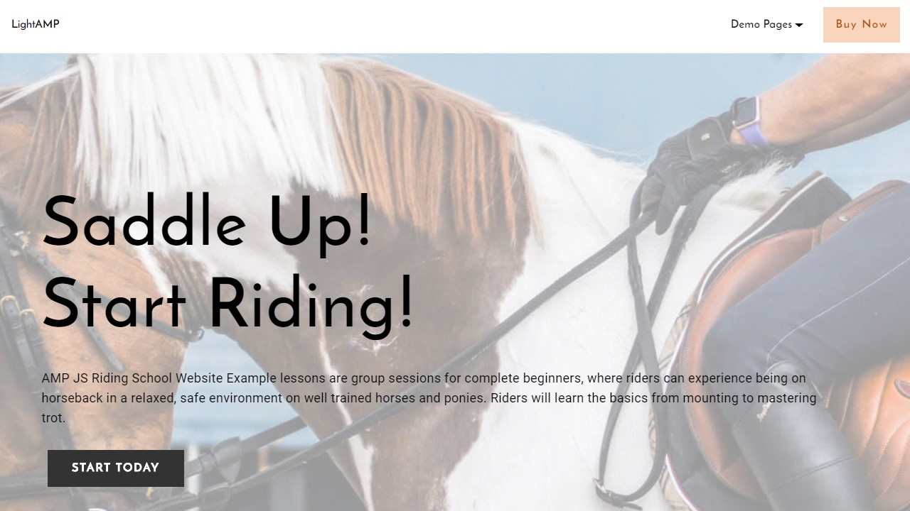 Riding School Website Template