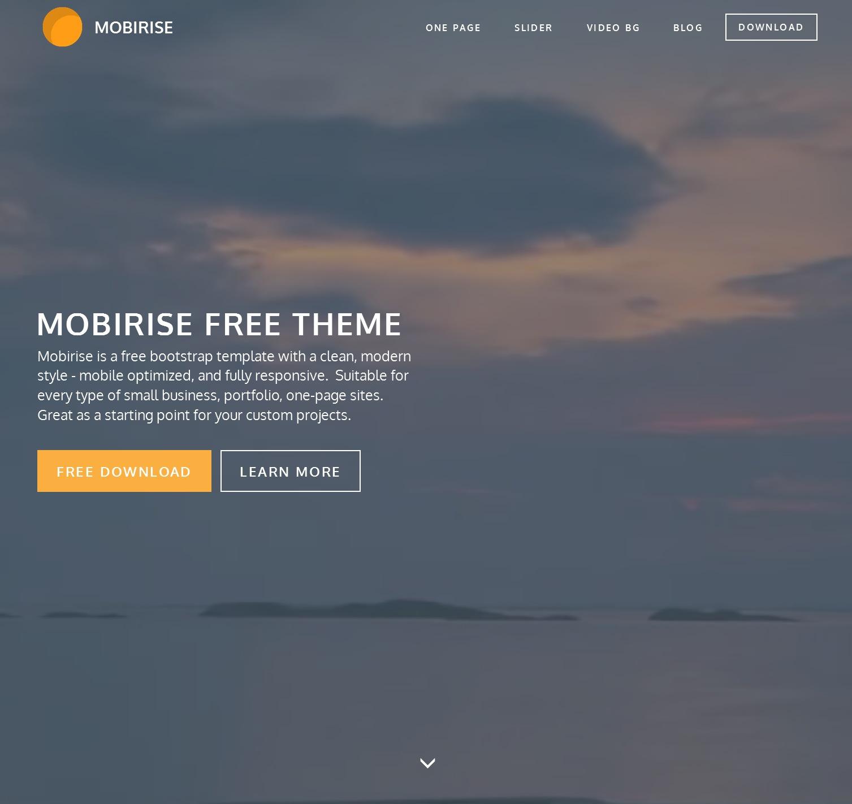 Mobile Bootstrap Design Theme