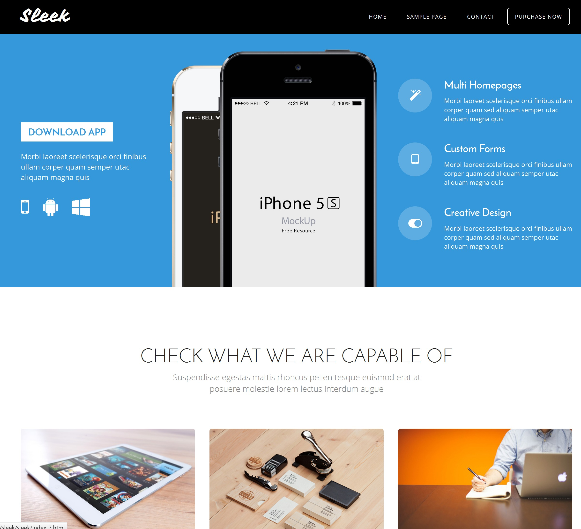 Mobile Bootstrap Resume Theme
