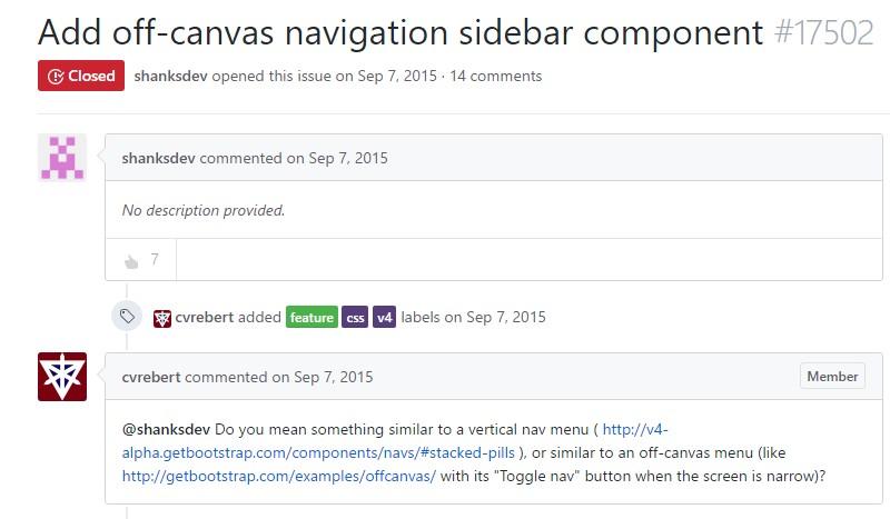 Add in off-canvas navigation sidebar  ingredient