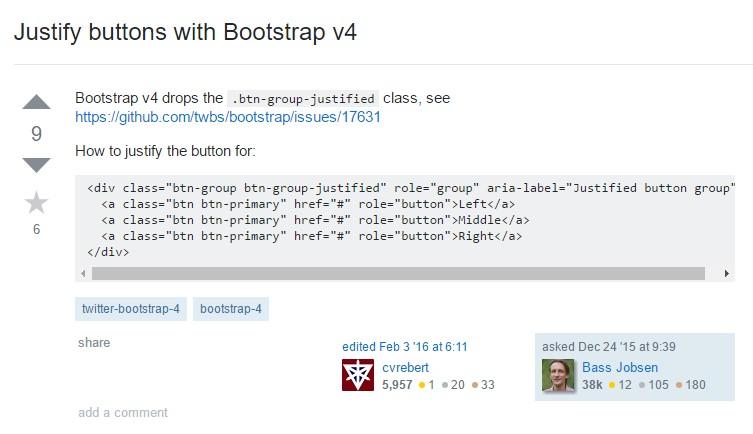 Establish buttons  through Bootstrap v4