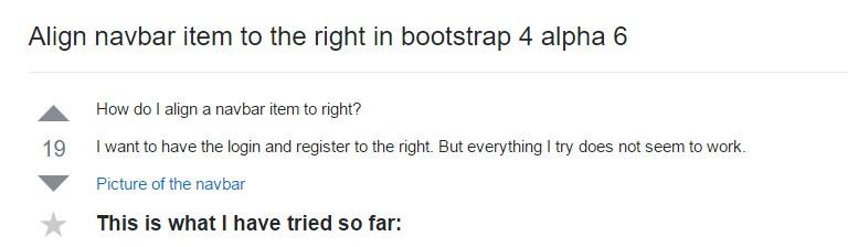 Align navbar item to the right  inside Bootstrap 4 alpha 6