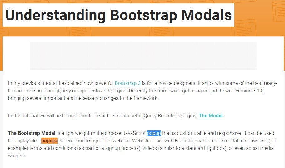 Yet another  valuable article  relating to Bootstrap Modal Popup