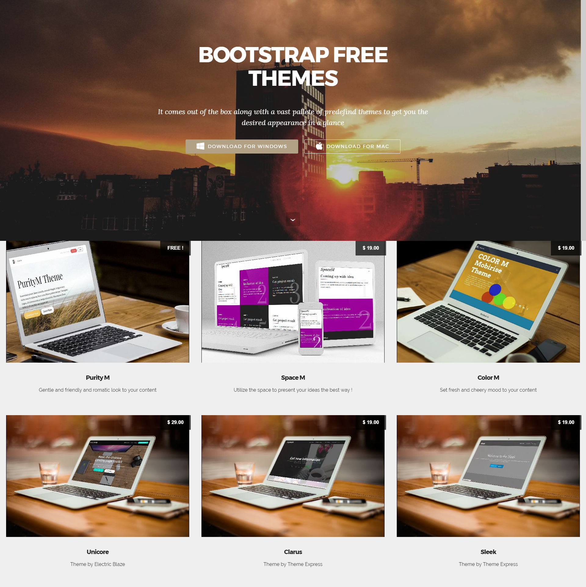 CSS3 Bootstrap Mobile-friendly Templates
