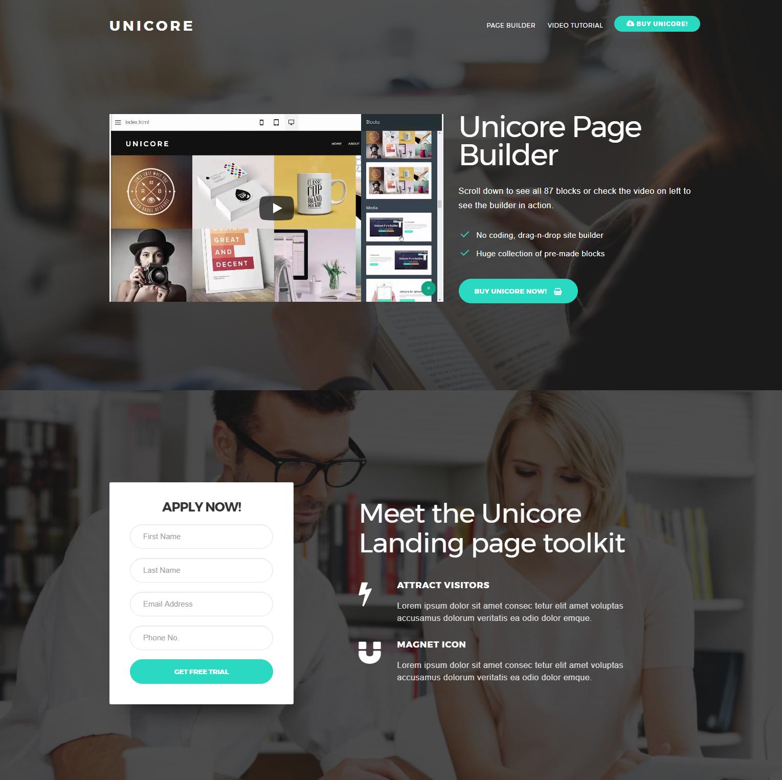 Free Bootstrap Unicore Themes