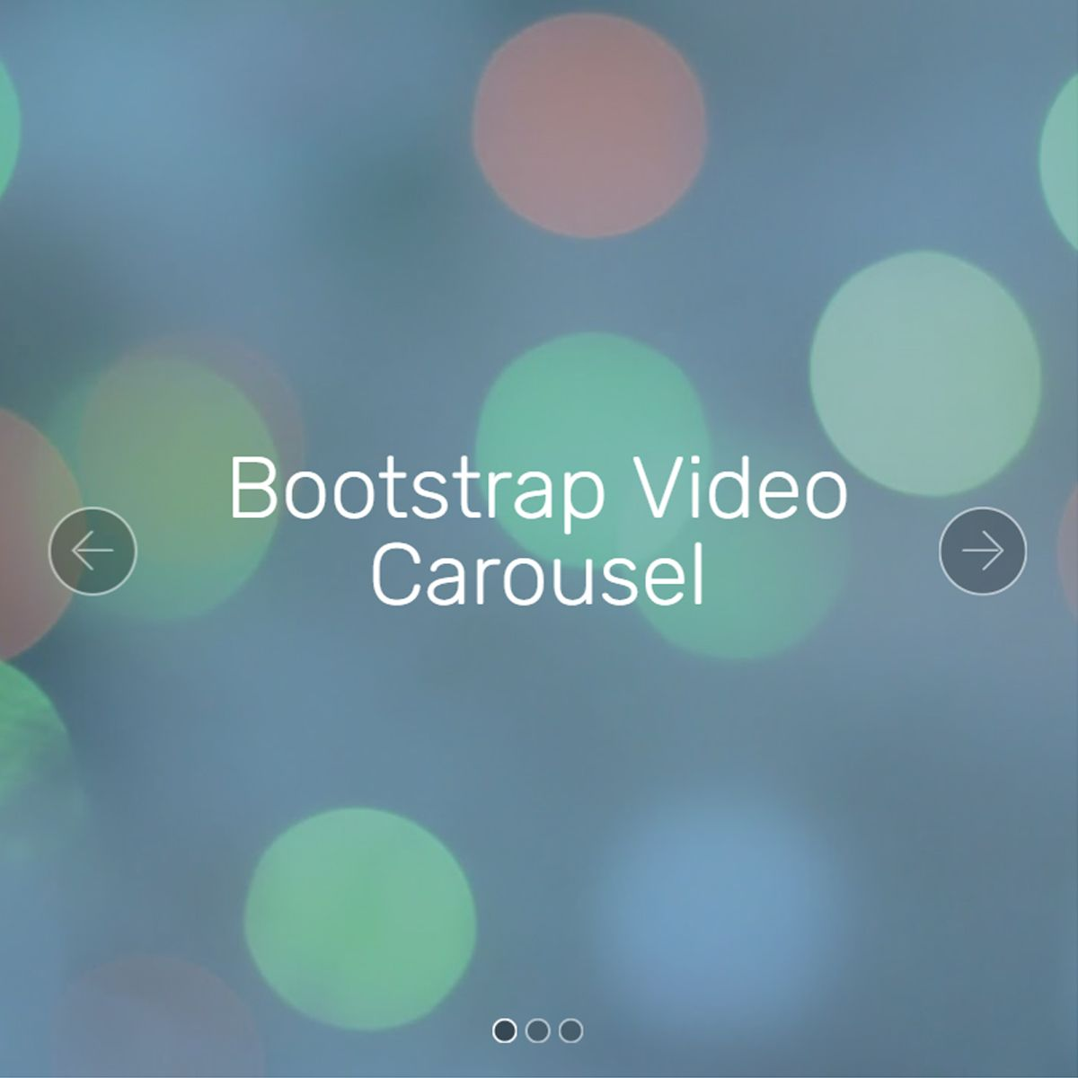 HTML5 Bootstrap Picture Slideshow