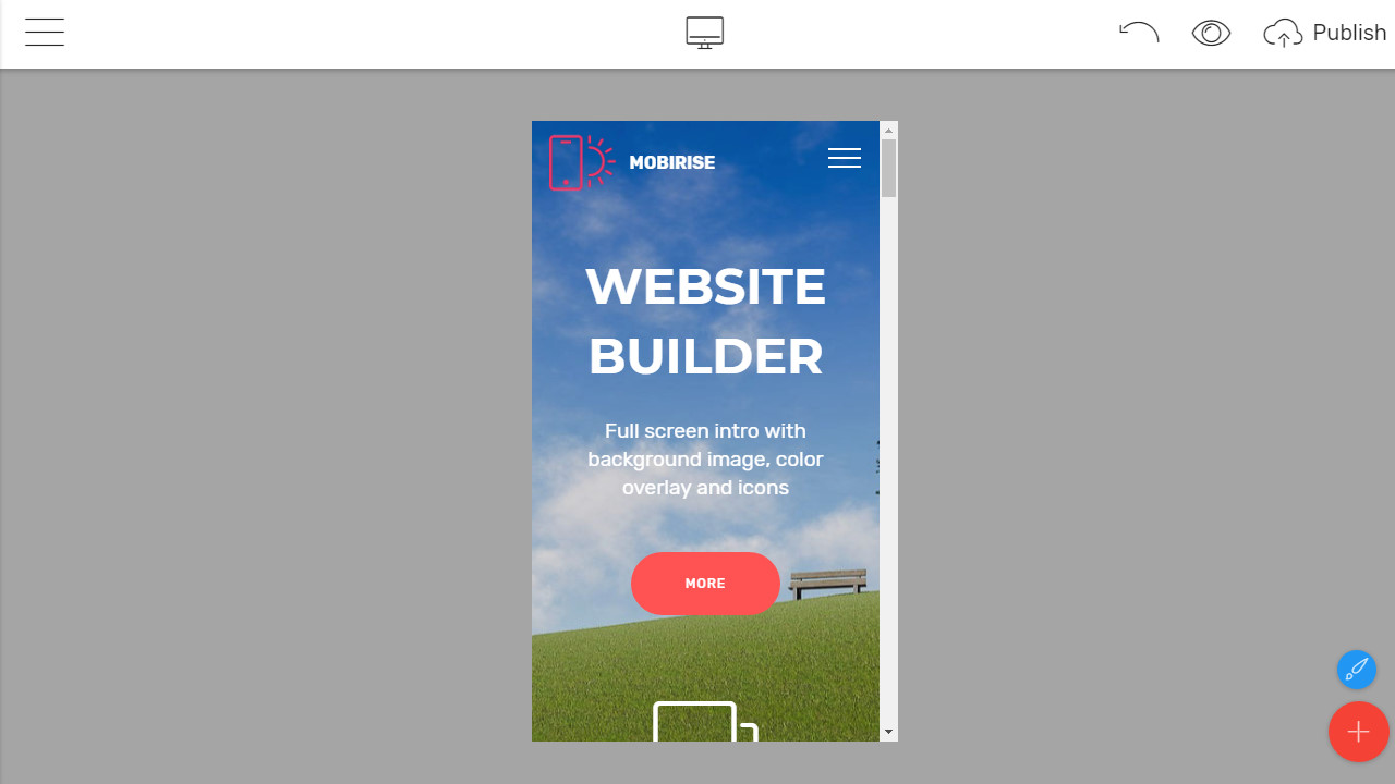 Drag and Drop Site Builder